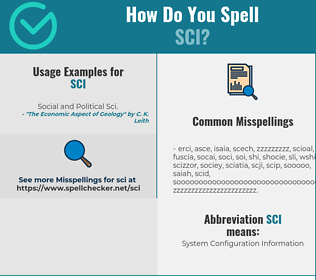 Correct spelling for SCI