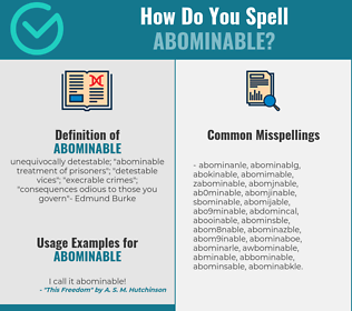 Correct spelling for abominable