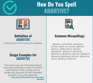 Correct spelling for abortive