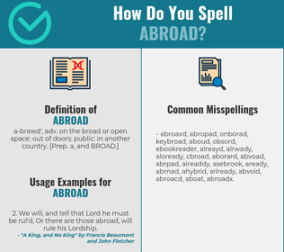 Correct spelling for abroad