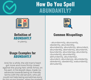 Correct spelling for abundantly