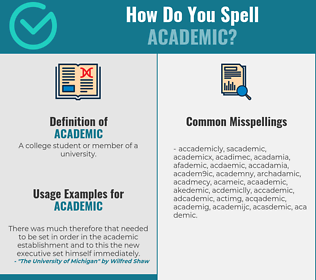 Correct spelling for academic
