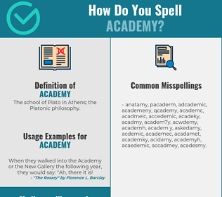 Correct spelling for academy