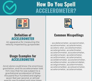Correct spelling for accelerometer