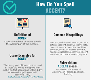Correct spelling for accent