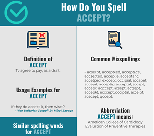 Correct spelling for accept