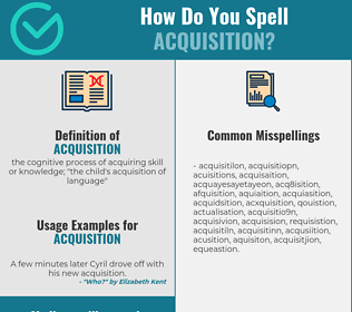 Correct spelling for acquisition