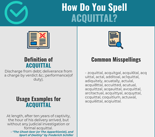 Correct spelling for acquittal