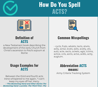 Correct spelling for acts