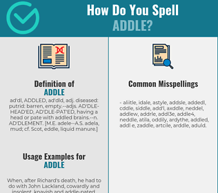 Correct spelling for addle