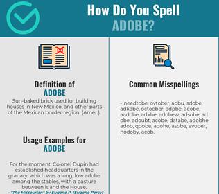 Correct spelling for adobe