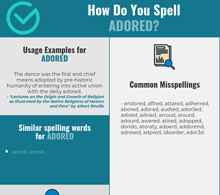 Correct spelling for adored