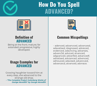 Correct spelling for advanced