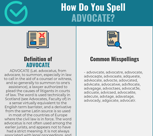 Correct spelling for advocate