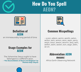 Correct spelling for aeon