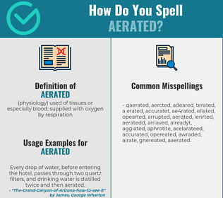 Correct spelling for aerated