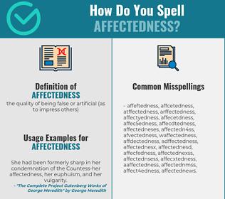 Correct spelling for affectedness