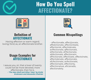 Correct spelling for affectionate