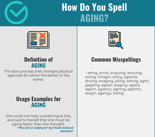 Correct spelling for aging