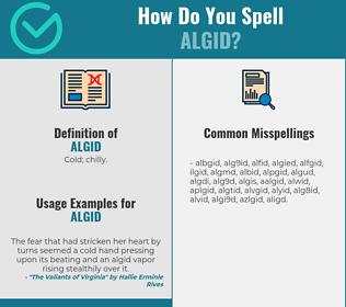 Correct spelling for algid
