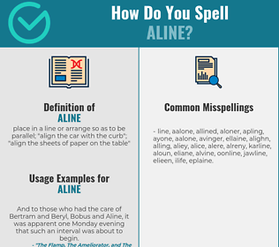 Correct spelling for aline