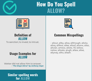 Correct spelling for allow