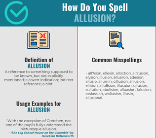 Correct spelling for allusion