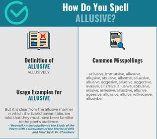 Correct spelling for allusive