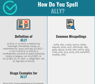Correct spelling for ally