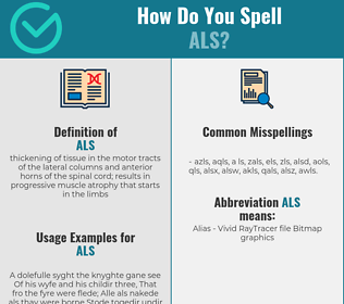 Correct spelling for als