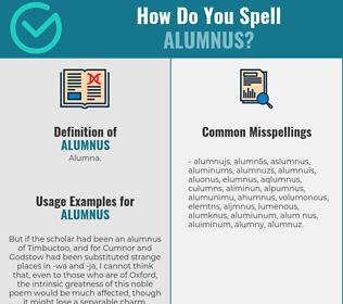 Correct spelling for alumnus