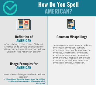 Correct spelling for american