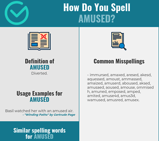 Correct spelling for amused