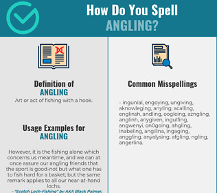 Correct spelling for angling
