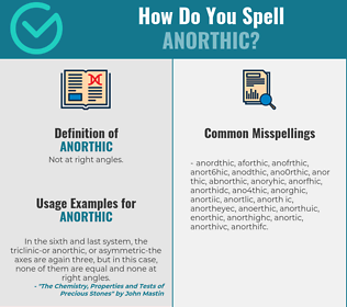Correct spelling for anorthic