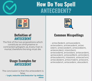 Correct spelling for antecedent