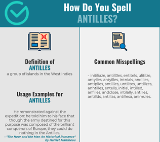 Correct spelling for antilles