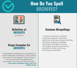 Correct spelling for archives