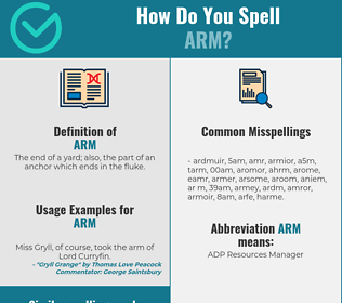Correct spelling for arm