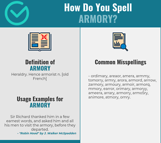 Correct spelling for armory