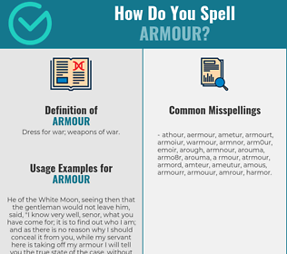 Correct spelling for armour
