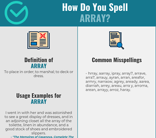 Correct spelling for array