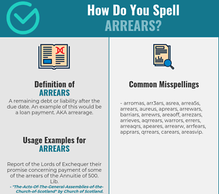 Correct spelling for arrears