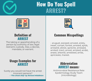 Correct spelling for arrest