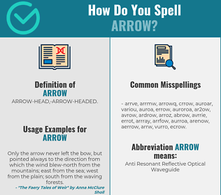 Correct spelling for arrow