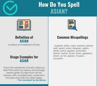 Correct spelling for asian