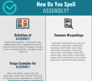 Correct spelling for assembly