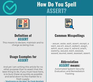 Correct spelling for assert