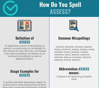 Correct spelling for assess