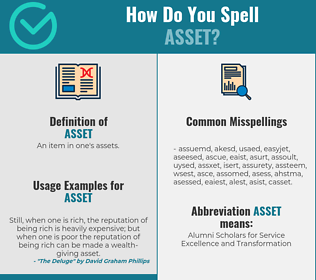 Correct spelling for asset